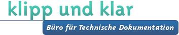 Logo klipp und klar, Büro für Technische Dokumentation